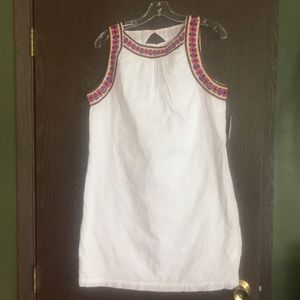 White embroidered dress in medium